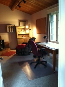 The writer's studio where I'll be for four weeks